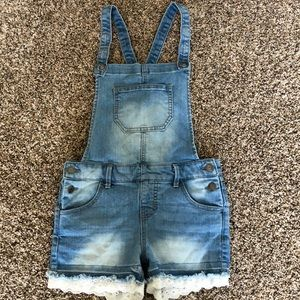 Girls Cat and Jack Jean short Overalls